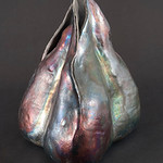 Raku vase by Susan Worley