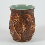 Oak Leaf vase by FoxLo Pottery