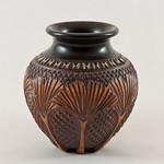 Gingko Leaf vase by FoxLo Pottery