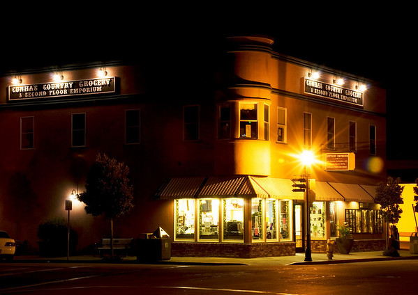 Cunha's Country Grocery and Second Floor Emporium - Half Moon Bay After Dark